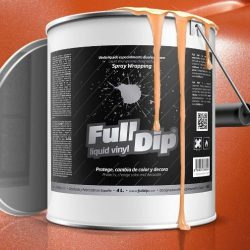 full dip orange metalizer 4 litre ready 2 spray