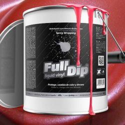 Full Dip Red Metalizer 4 litre ready to spray