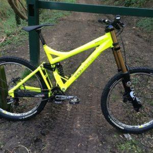 full dip bike yellow fluorescent