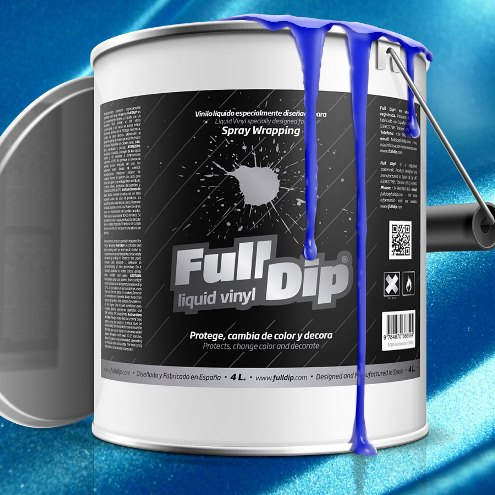 full dip electric blue candy pearl 4 litre